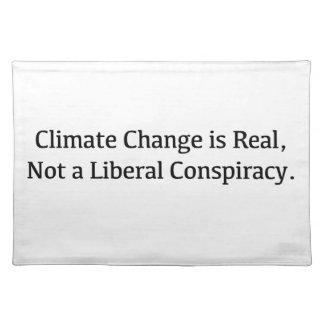 Klimawandel ist, nicht eine liberale Verschwörung Stofftischset