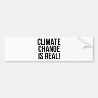 Klimawandel ist wirklich! Planeten-Erdwelt Autoaufkleber