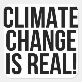 Klimawandel ist wirklich! Planeten-Erdwelt Quadratischer Aufkleber