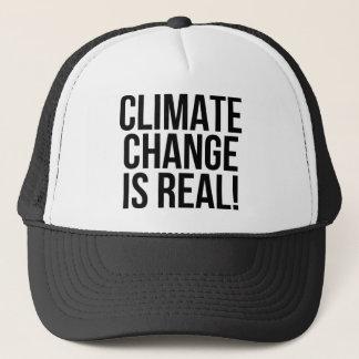 Klimawandel ist wirklich! Planeten-Erdwelt Truckerkappe