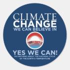 Klimawandel - ja können wir runder aufkleber
