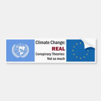 Klimawandel-> Verschwörungs-Theorien Autoaufkleber