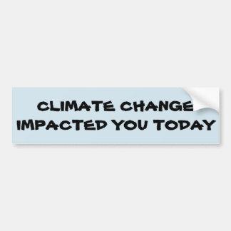 Klimawandelbewusstsein Autoaufkleber