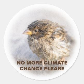 Klimawandelbewusstsein Runder Aufkleber