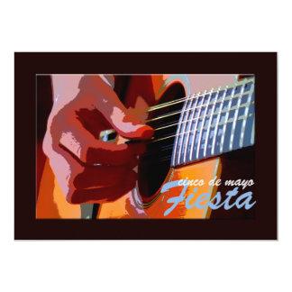 Klimpern der Gitarren-Einladung 12,7 X 17,8 Cm Einladungskarte