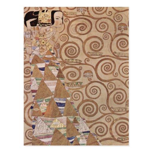 Klimt ~ Erwartung Postkarten
