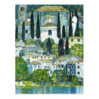 Klimt - Kirche in Cassone Postkarten