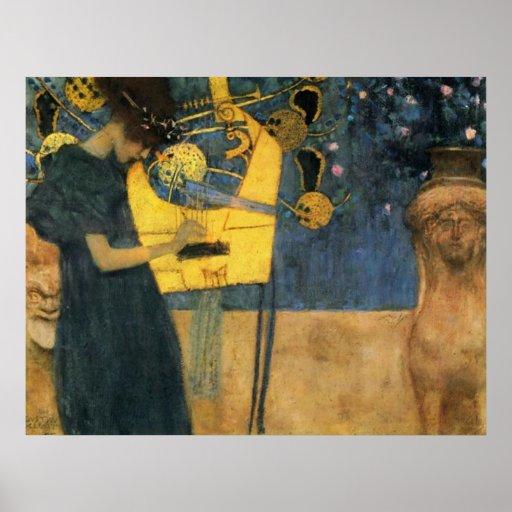 Klimt - Musik Posterdruck
