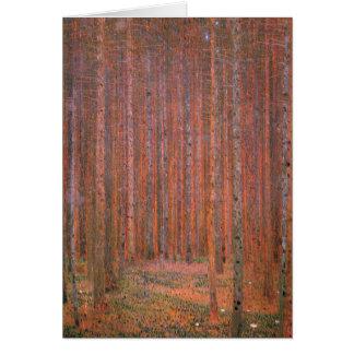 Klimt - Tannen-Wald I, malend durch Gustav Klimt Karte