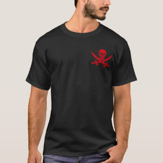 Klinge-Piraten-Piratenflagge-T - Shirt