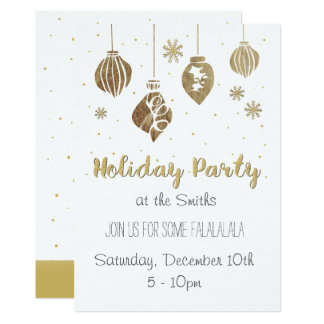 Klingel-Bell-Feiertags-Party laden ein Karte