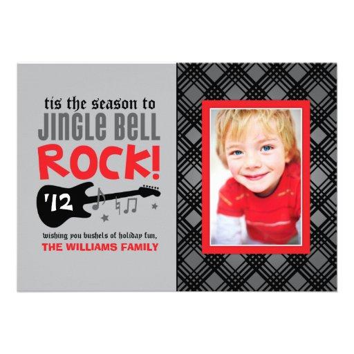 Klingel-Bell-Felsen-Thema der Feiertags-Foto-Karte Einladung