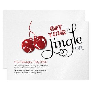 Klingel-Bell-Weihnachtsfeiertags-Einladungskarte Karte