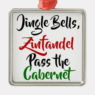 Klingel Bell, Zinfandel, führen den Cabernet Silbernes Ornament