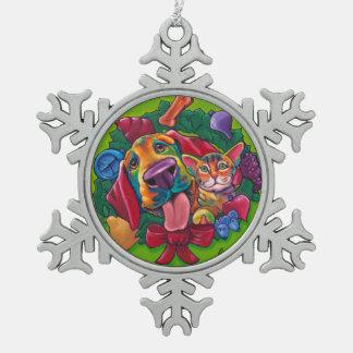 Klingel-u. Bell-Schneeflocke-Verzierung durch Schneeflocken Zinn-Ornament