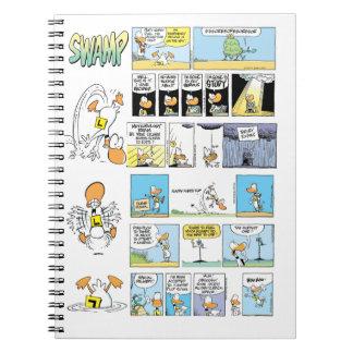 Klingeln-Enten-Fliegen-Cartoons Notizblock