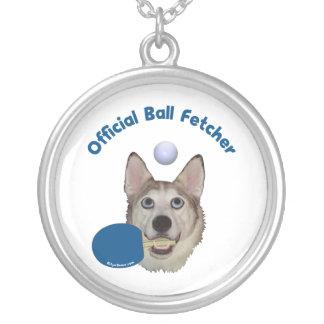 Klingeln Pong Ball Fetcher Hund Versilberte Kette