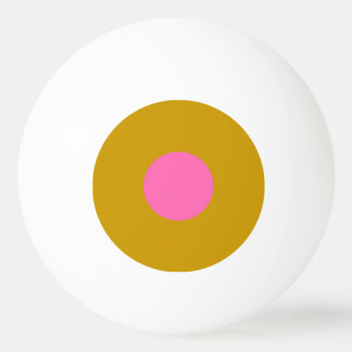 Klingeln Pong Ball mit einem Stern - Gold und Rosa Tischtennis Ball