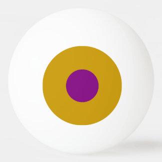 Klingeln Pong Ball mit einem Stern - Gold und Tischtennis Ball