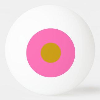 Klingeln Pong Ball mit einem Stern - Rosa und Gold Ping-Pong Ball