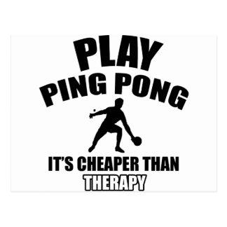 Klingeln Pong Entwürfe Postkarte
