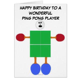 Klingeln Pong Geburtstag Karte