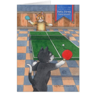 Klingeln Pong Katzen-Geburtstags-Knospe u. Tony Karte