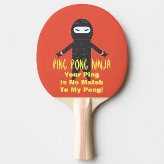 Klingeln Pong Ninja lustiges Klingeln Pong Paddel Tischtennis Schläger