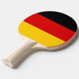 Klingeln pong Paddel mit Flagge von Deutschland Tischtennis Schläger