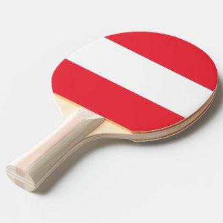 Klingeln pong Paddel mit Flagge von Österreich Tischtennis Schläger