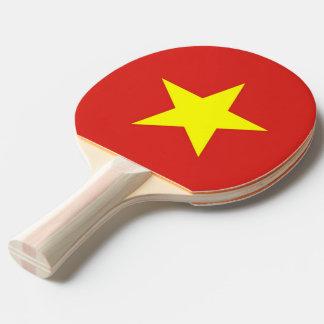 Klingeln pong Paddel mit Flagge von Vietnam Tischtennis Schläger