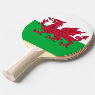 Klingeln pong Paddel mit Flagge von Wales Tischtennis Schläger