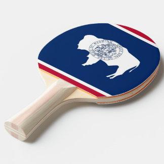 Klingeln pong Paddel mit Flagge von Wyoming, USA Tischtennis Schläger