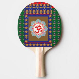 Klingeln Pong Paddel, rote Gummi-Rückseite KUNST Tischtennis Schläger