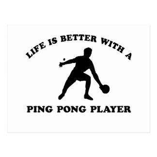 Klingeln Pong vektorentwurf Postkarte