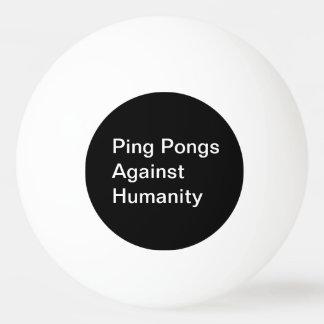 Klingeln Pongs gegen Menschlichkeits-Ball Tischtennis Ball