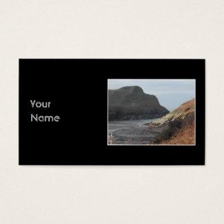 Klippen bei Watermouth, Devon, Großbritannien. Auf Visitenkarte
