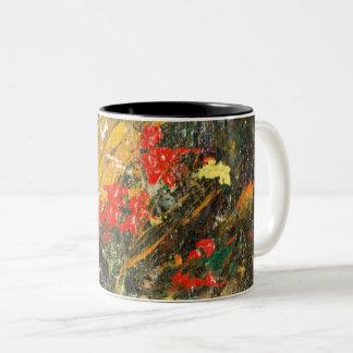 Klippen-Bewohner abstrakte 2 Zweifarbige Tasse
