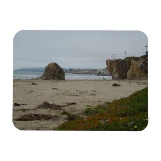 Klippen entlang Pismo Strand-Küstenlinie Magnet