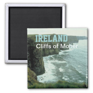 Klippen-Reise-Foto-Andenken-Magnet Irlands Moher Quadratischer Magnet