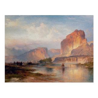 Klippen von Green River - 1874 Postkarte
