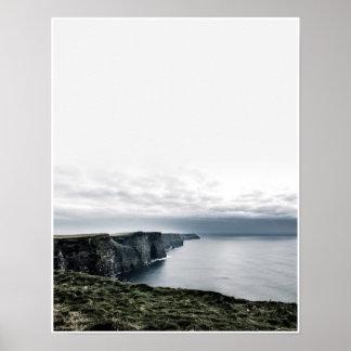 Klippen von Moher, Irland-Reise Photograhy Plakat