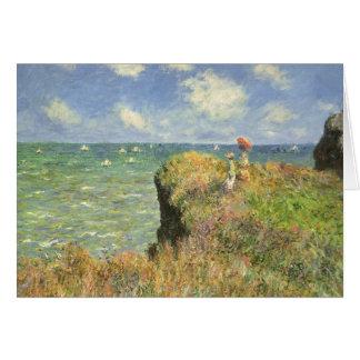 Klippen-Weg bei Pourville durch Claude Monet Karte