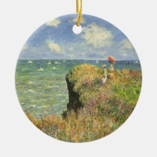 Klippen-Weg bei Pourville durch Claude Monet Keramik Ornament
