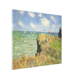 Klippen-Weg bei Pourville durch Claude Monet Leinwanddruck