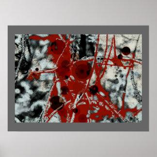 Klirren - abstraktes Plakat