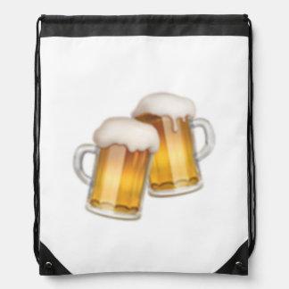 Klirrende Bier-Tassen - Emoji Sportbeutel