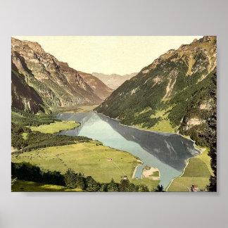 Klonthal See allgemeine Ansicht Glarus die Schw Plakat