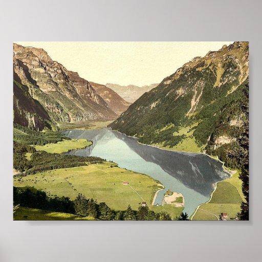 Klonthal See, allgemeine Ansicht, Glarus, die Schw Plakat