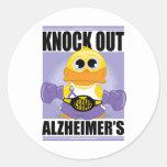 Klopfen Sie heraus Alzheimerkrankheit Runder Sticker